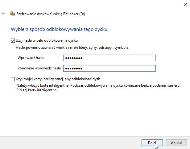 Zrzut ekranu prezentujący krok procedury