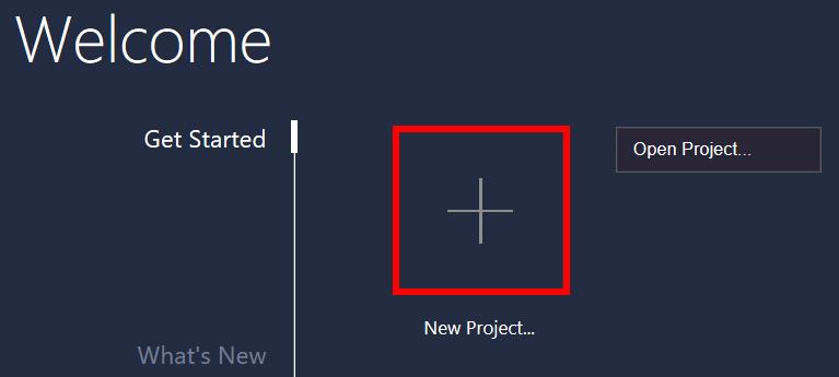 nowy projekt cvs